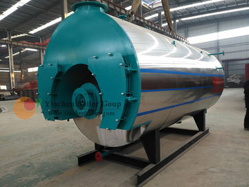 Natural Gas Fired Hot Water Boiler , Light Oil Fire Tube Boiler Efficiency